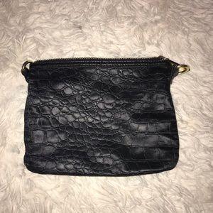 3/$10 BCBGgenation crocodile print black pouch